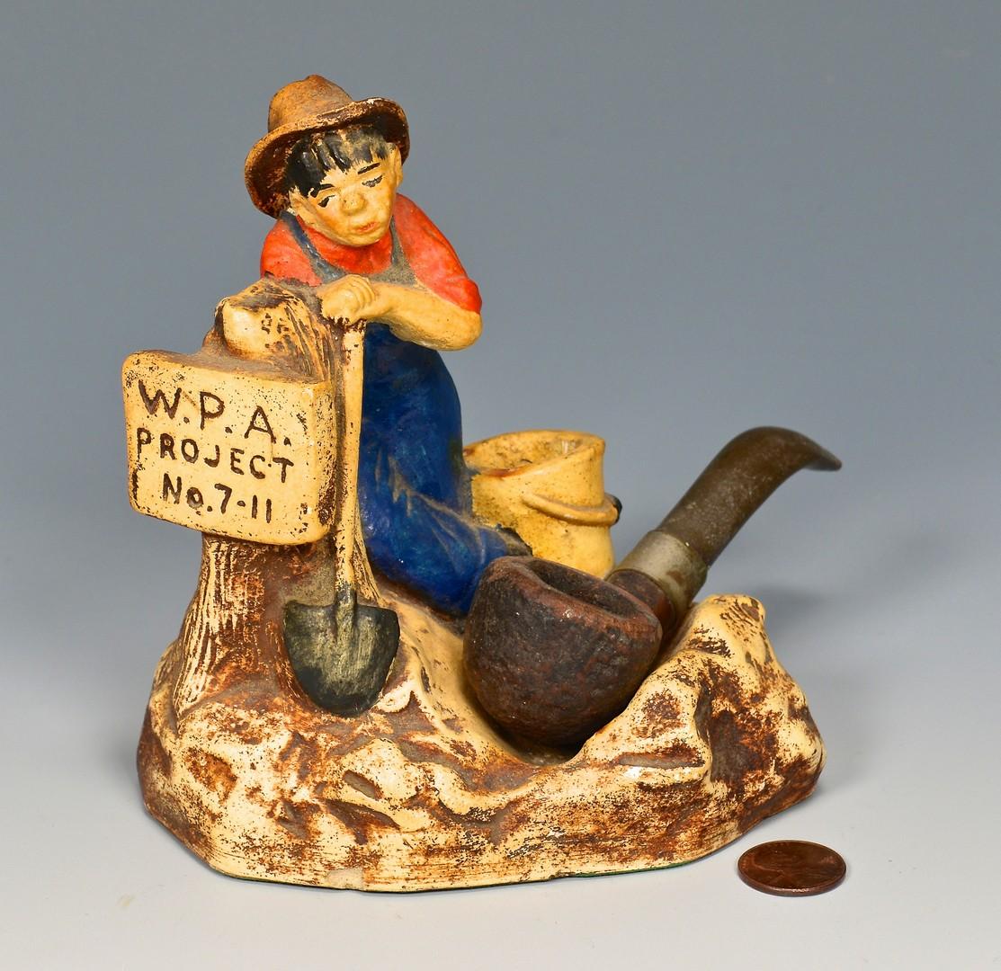 Lot 685: 4 Folk Items, Boy Scout & WPA