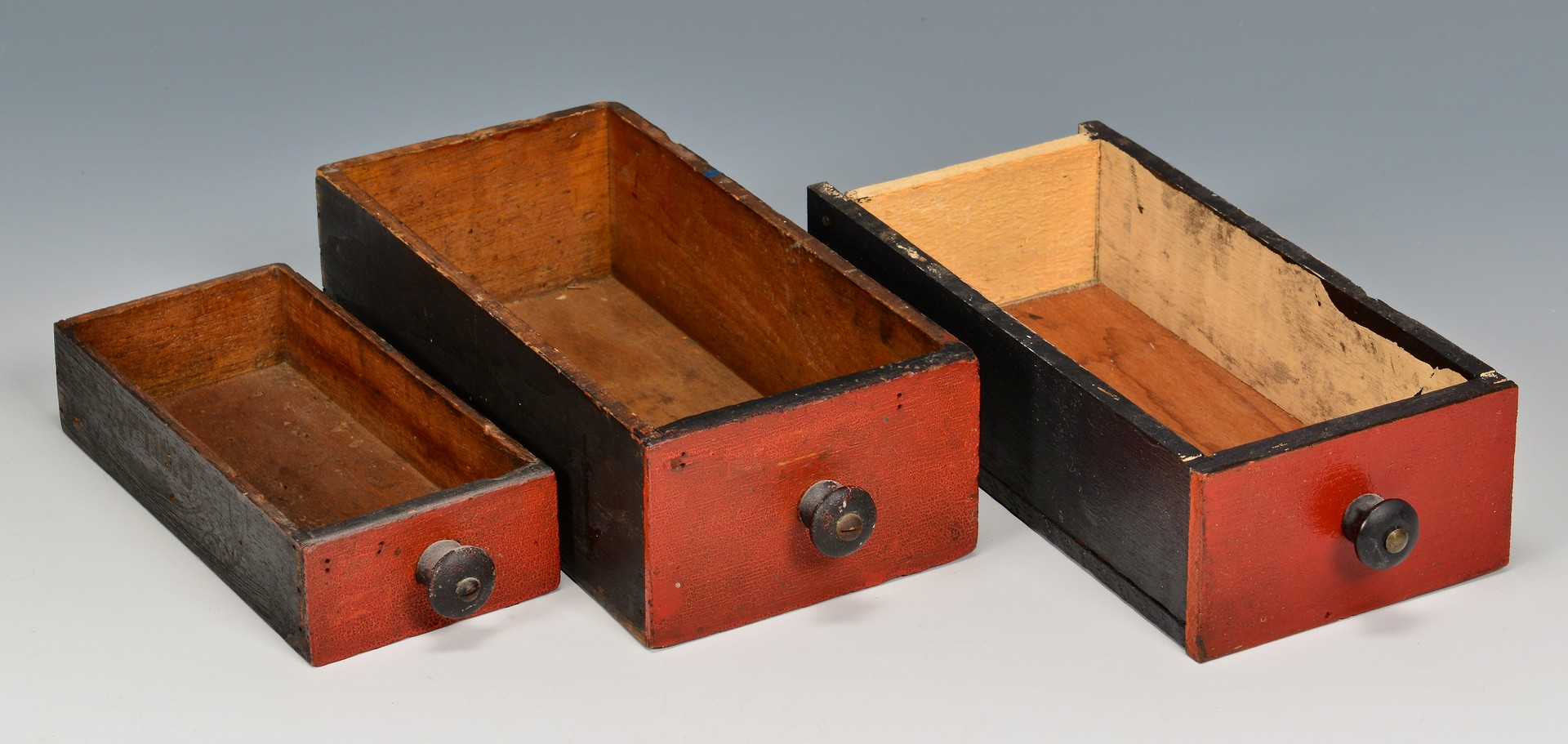 Lot 686: 2 Painted Miniature Spice/Apothecary Cabinets