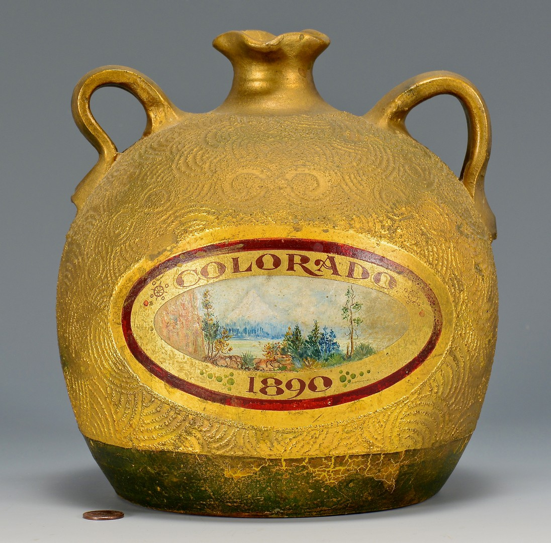 Lot 688: Pottery Jar w/ Scenic Colorado Painted Scene