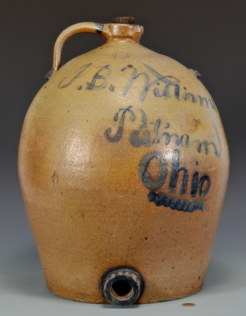 Lot 689: J.B. Williams Putnam OH Cobalt Decor. Water Cooler