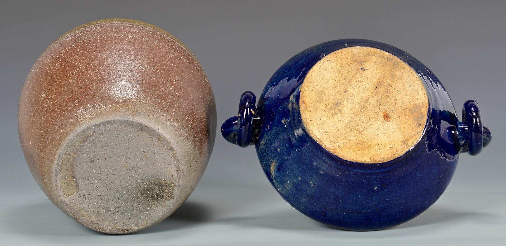 Lot 692: Middle TN Stoneware Jar & NC Auman Bowl