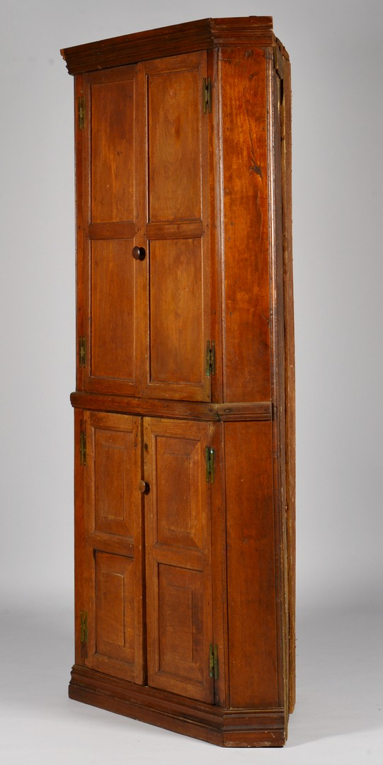 Lot 696: East TN Blind Door Corner Cupboard