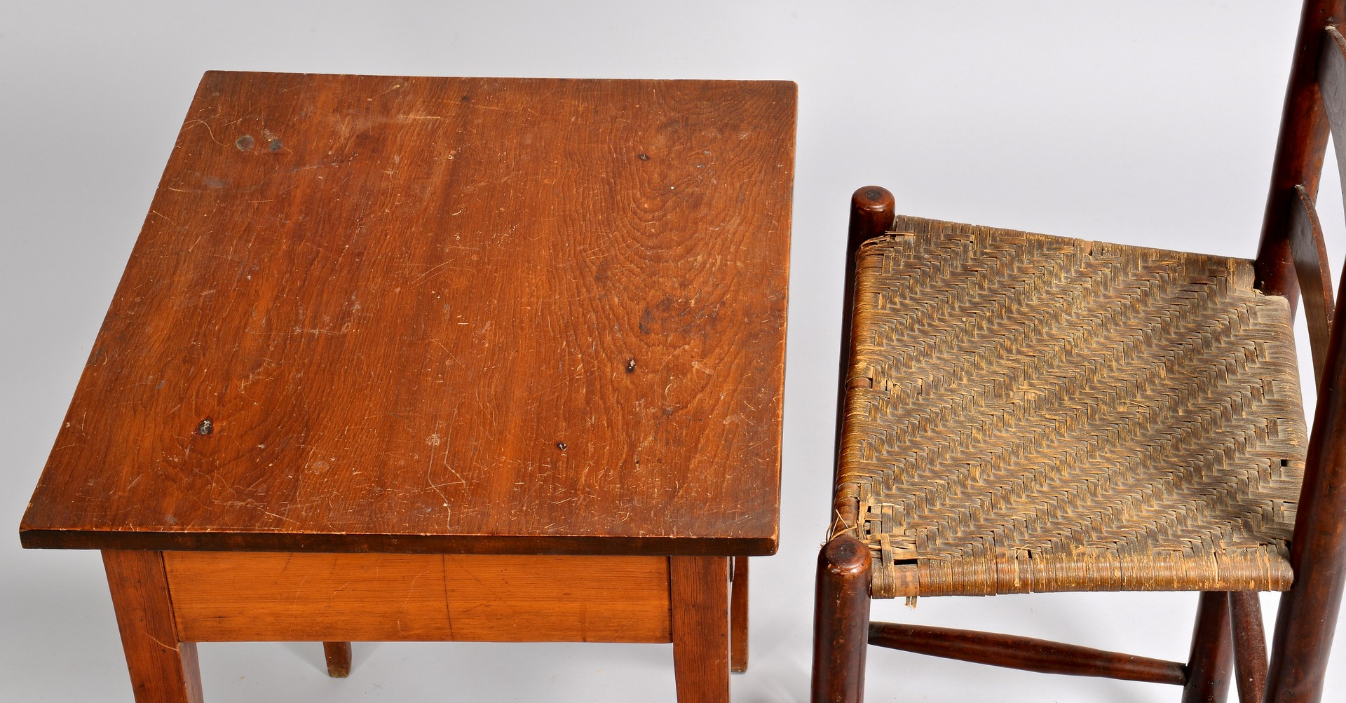 Lot 699: East TN Weaver Chair & Hepplewhite Table