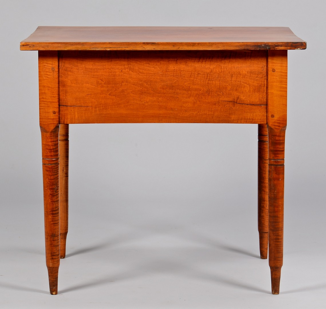 Lot 703: Tiger Maple Stand or Writing Table
