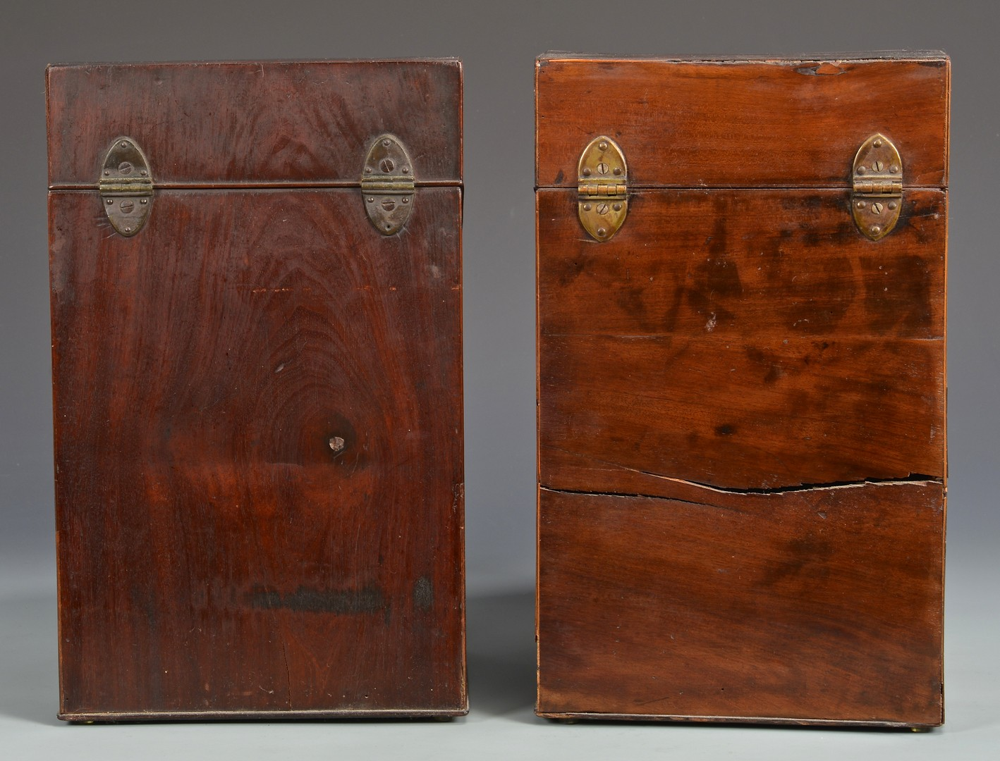 Lot 706: 2 Mahogany Knife Boxes