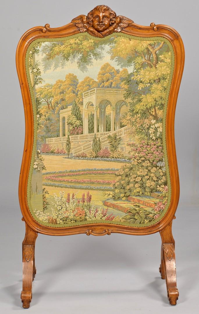 Lot 710: Louis XV Style Fire Screen & Armchair
