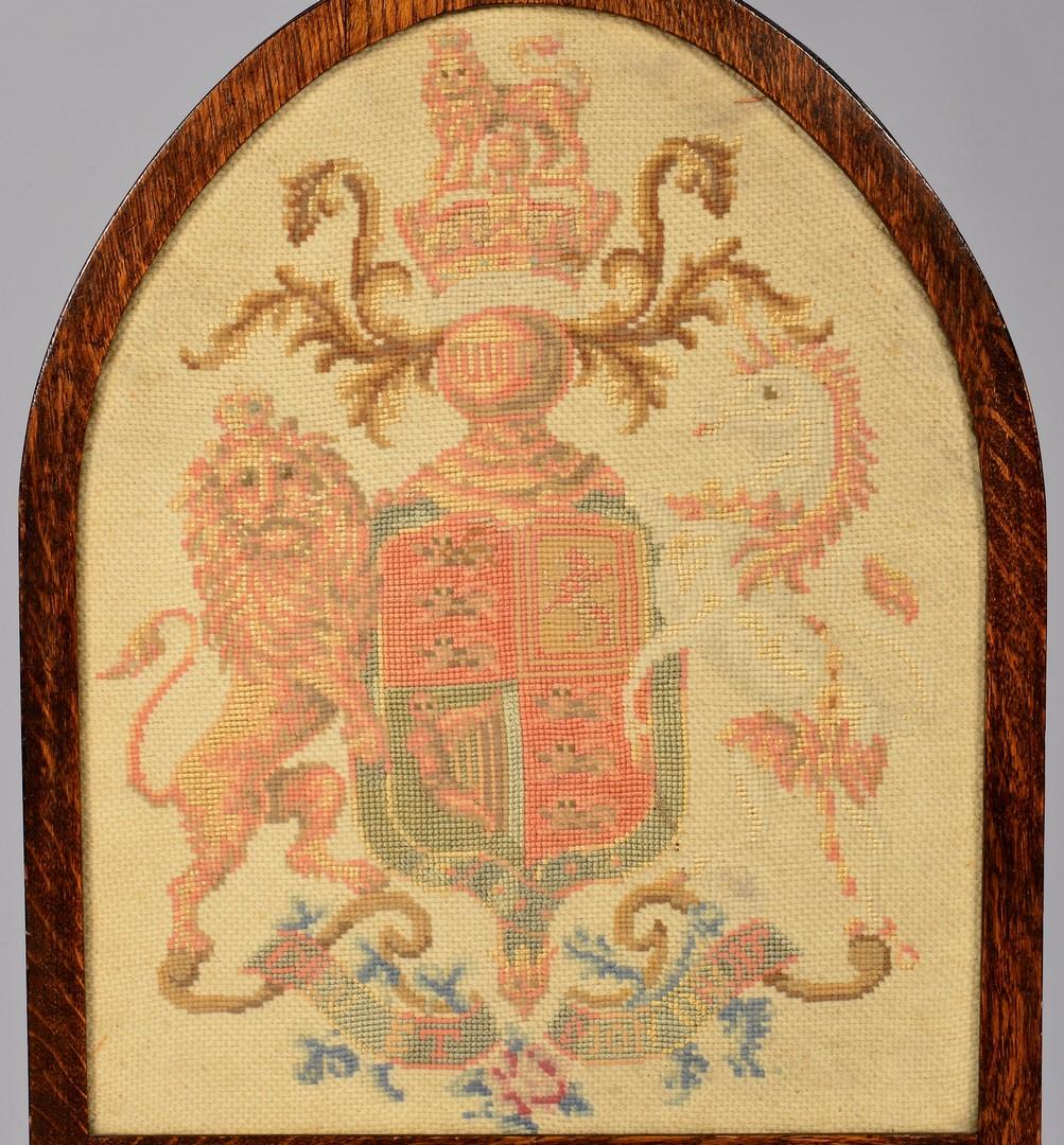 Lot 713: English Heraldry Screen & Oriental Storage Box