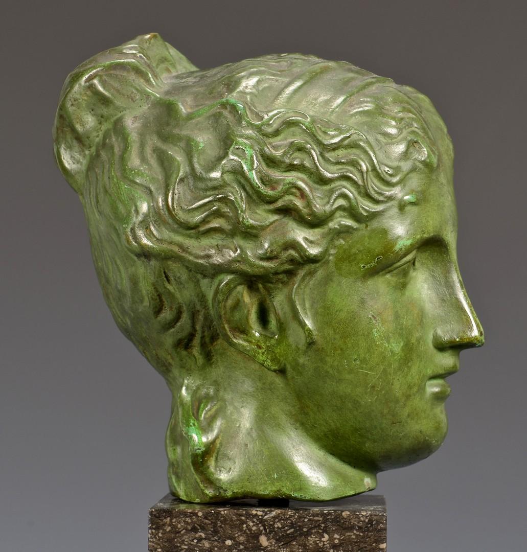 Lot 714: Classical Bronze Female Head Sculpture