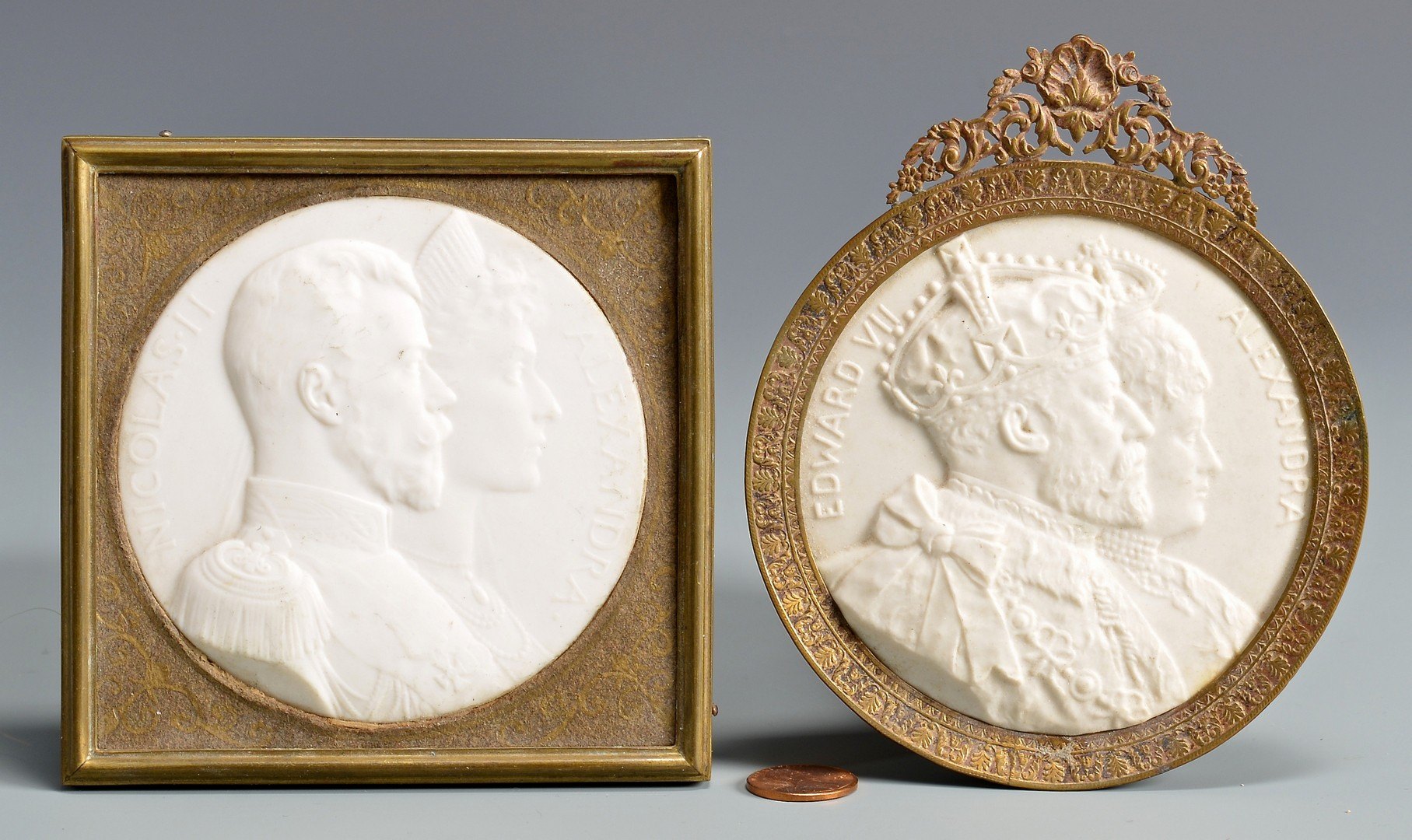 Lot 717: 2 Sevres Plaques of Royal Couples