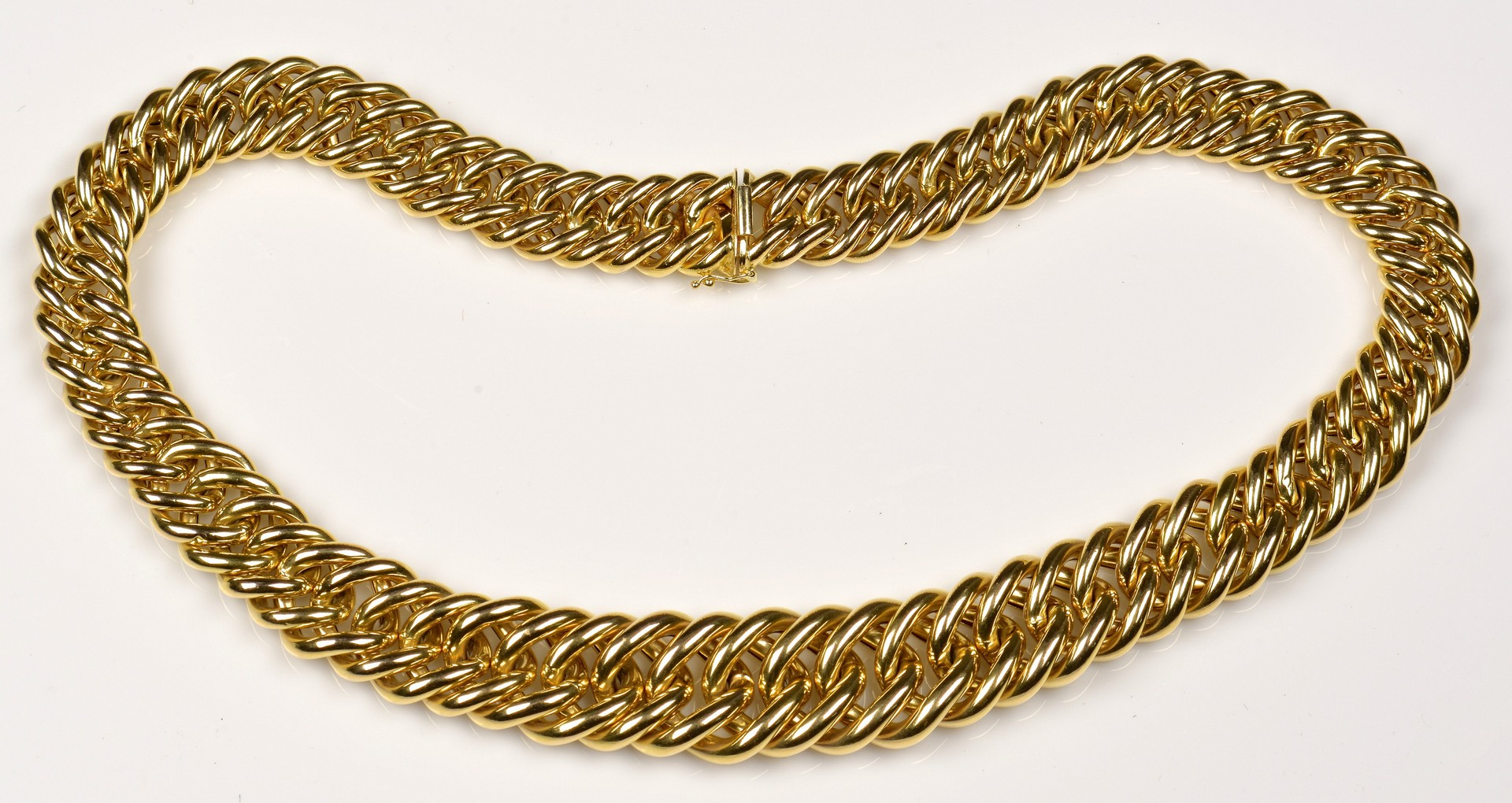 Lot 71: 14K Gold Italian Link Necklace