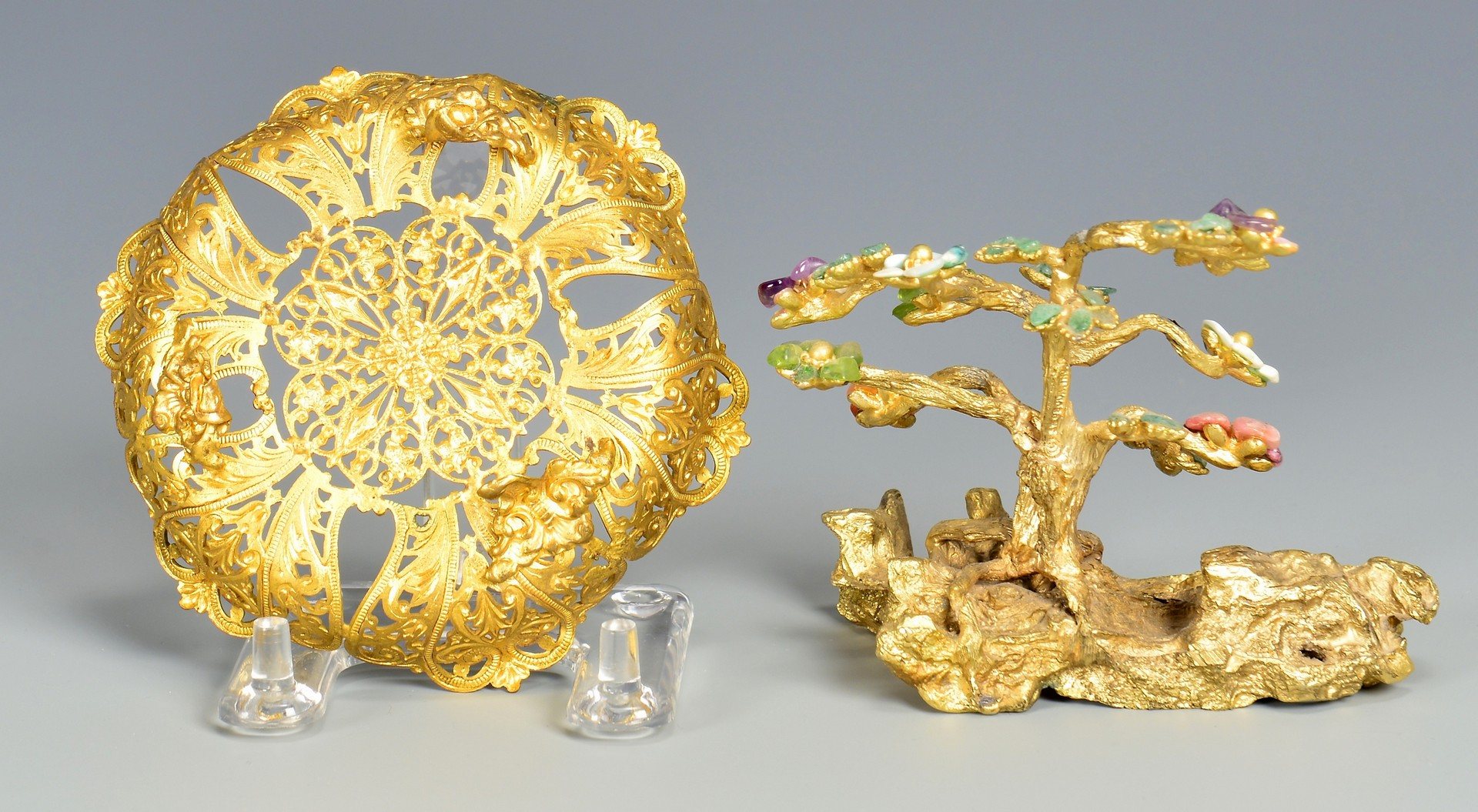 Lot 723: Collection Perfume Bottles and Filigree, Enamel It
