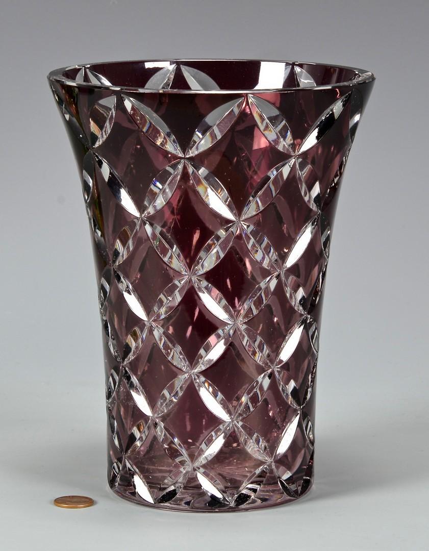 Lot 725: 3 Glass Vases, includ. St. Louis