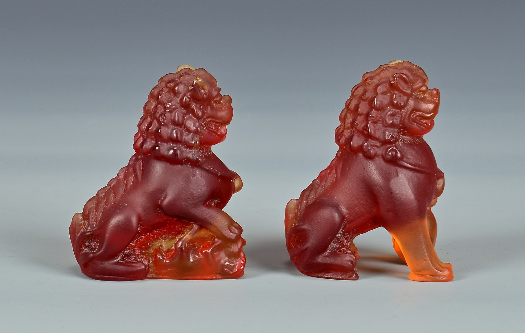 Lot 729: Daum Glass Snake and Lions
