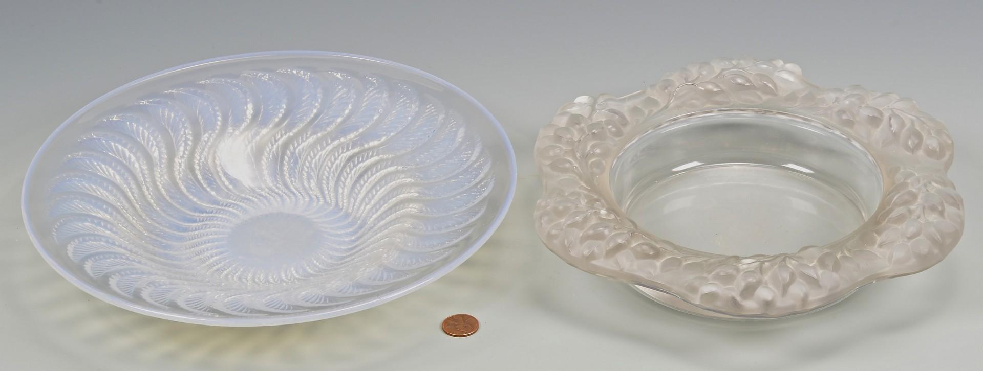 Lot 730: Rene Lalique Bowl & Wine Coaster