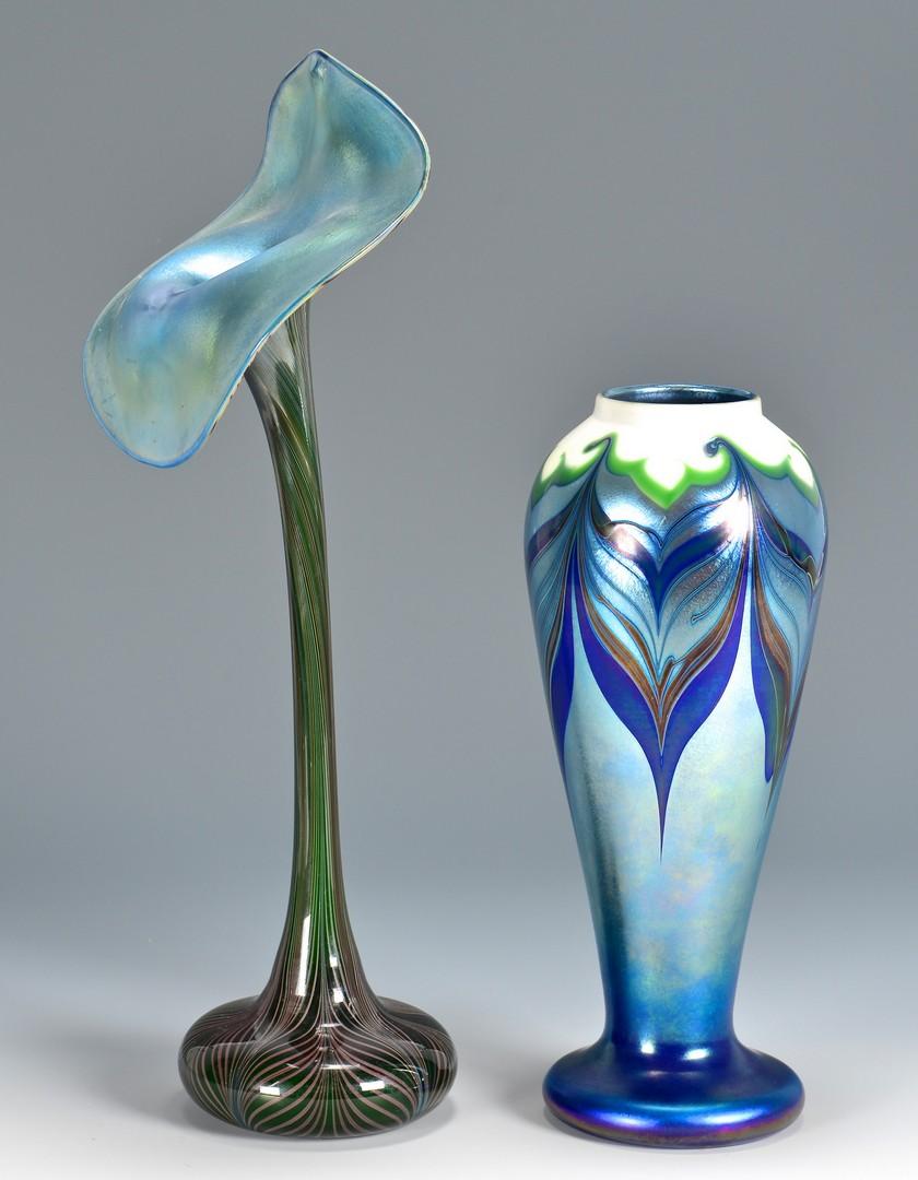 Lot 735: 2 Orient & Flume Art Glass Vases