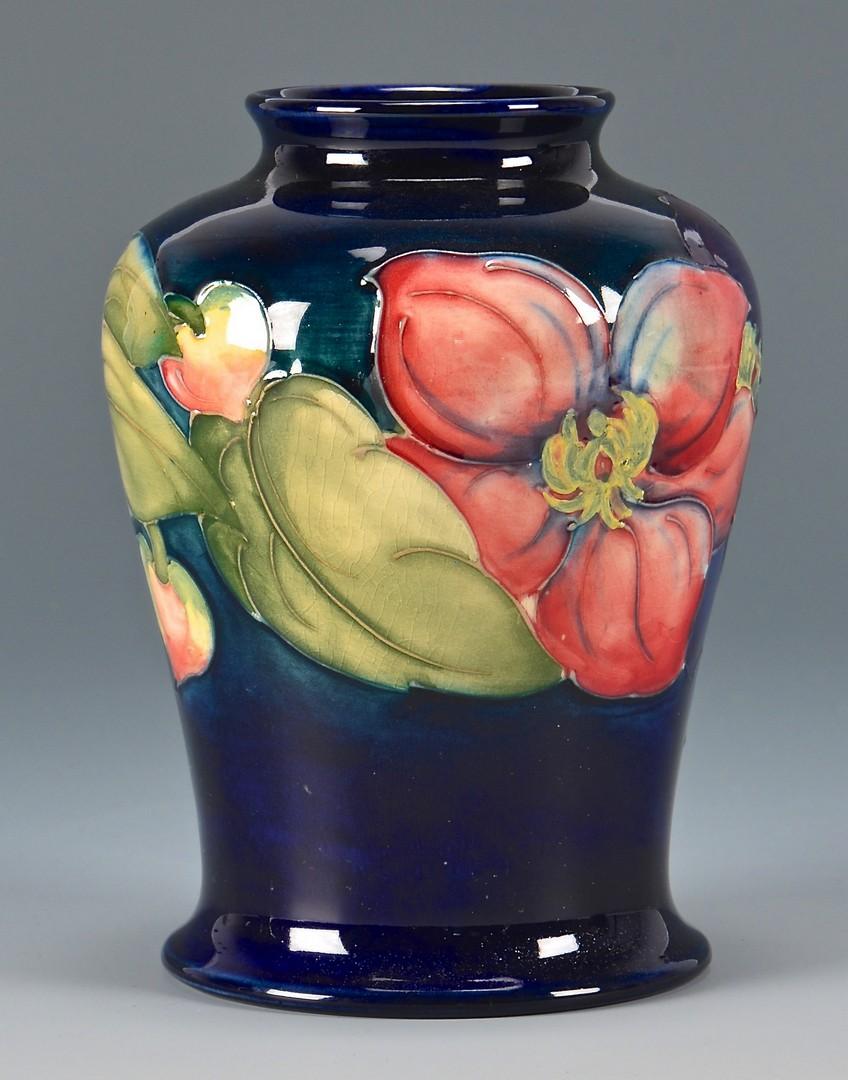 Lot 738: 3 English W. Moorcroft Pottery Vases, Floral Desig