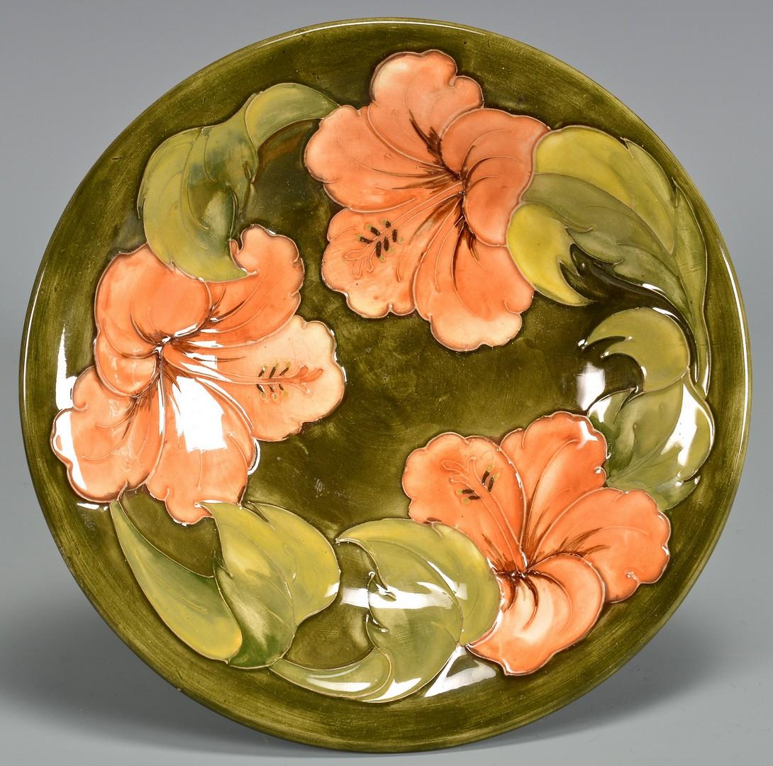 Lot 739: 2 Pcs. Moorcroft Pottery, Vase & Bowl