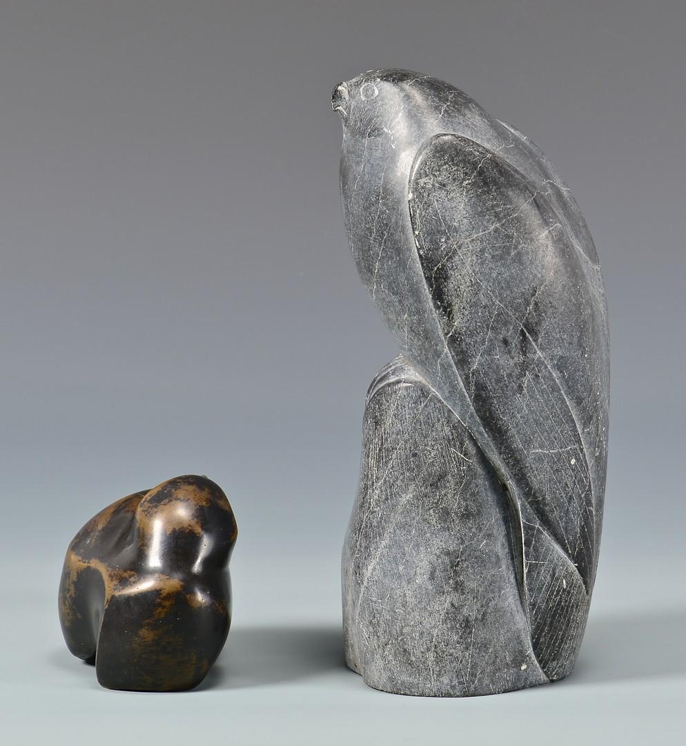 Lot 741: 4 Art Pottery Items & 2 Bird Figurals