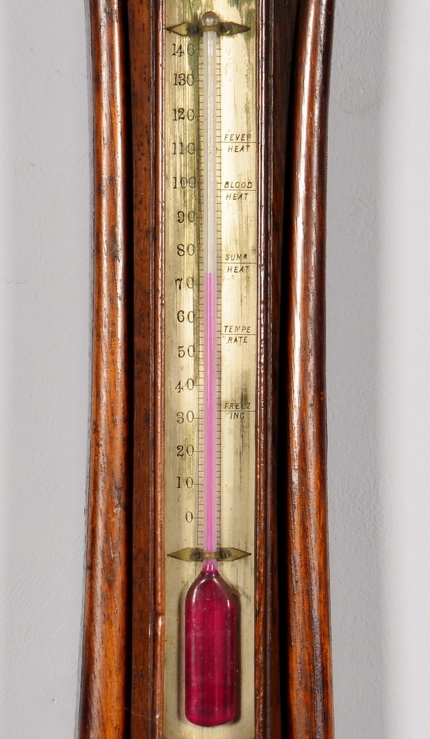 Lot 744: 19th Cent. English Banjo Barometer