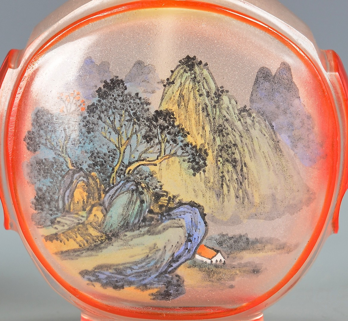 Lot 749: 3 Chinese Porcelain & 2 Painted Peking Glass Snuff