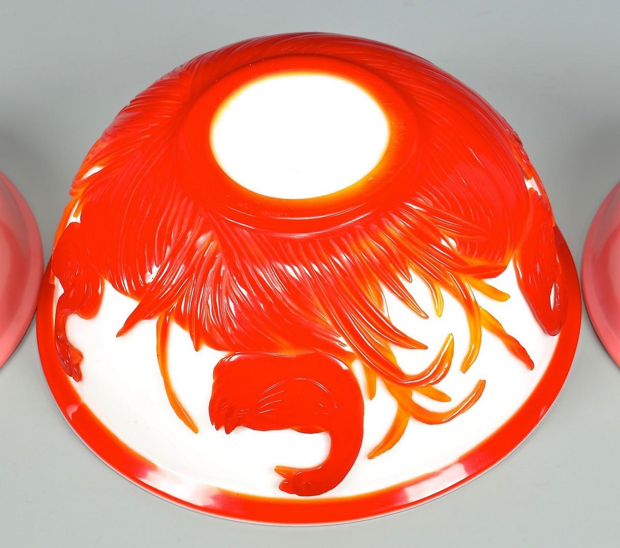 Lot 750: 3 Peking Glass Bowls