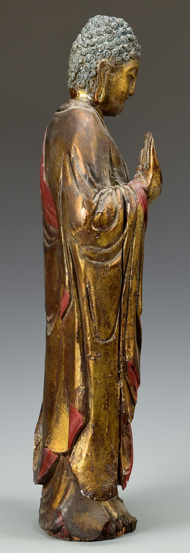 Lot 753: Large Gilt Lacquered Buddha