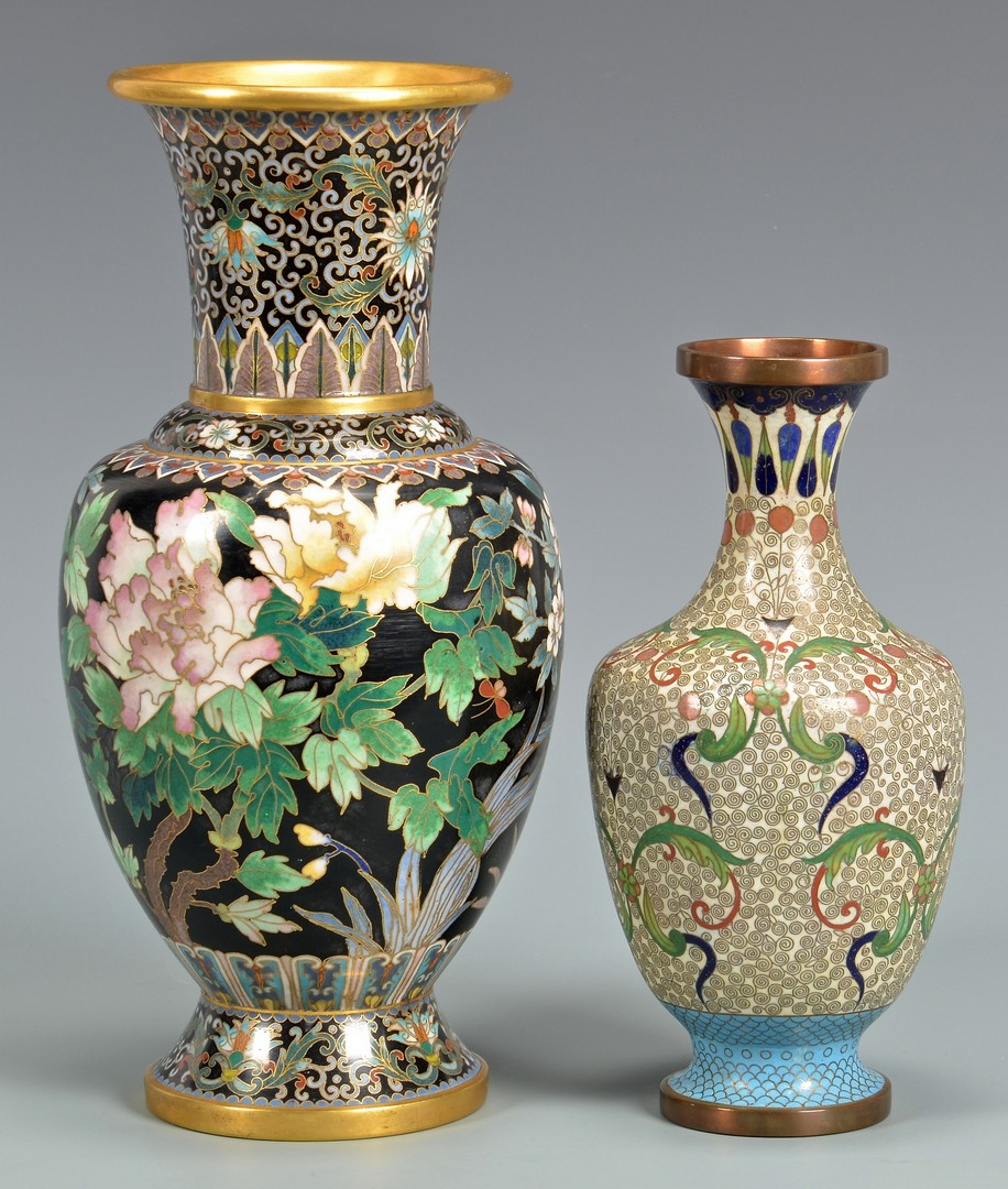 Lot 754: Group Chinese Porcelain & Cloisonne Items, 8 total