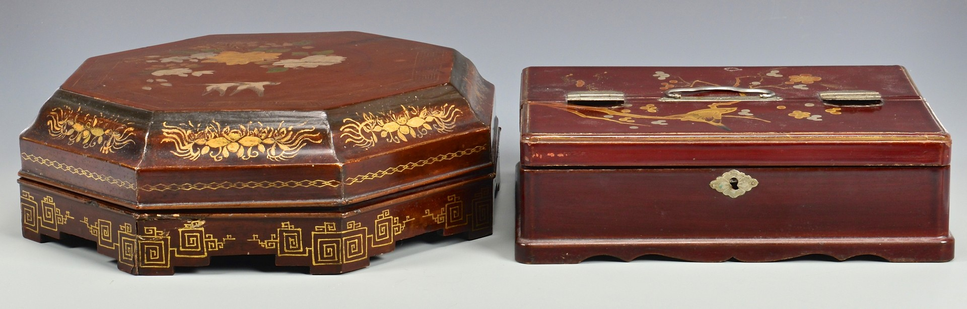 Lot 757: 3 Asian Lacquered Boxes