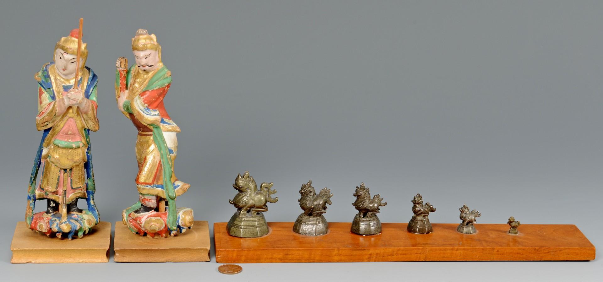 Lot 759: Asian & Tibetan Decorative Items and Gilt Bronze D