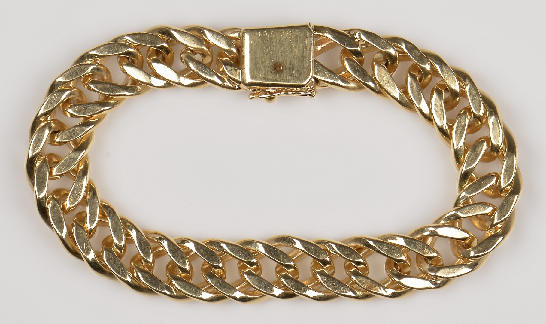 Lot 75: 14k Link Bracelet, 52.6 grams