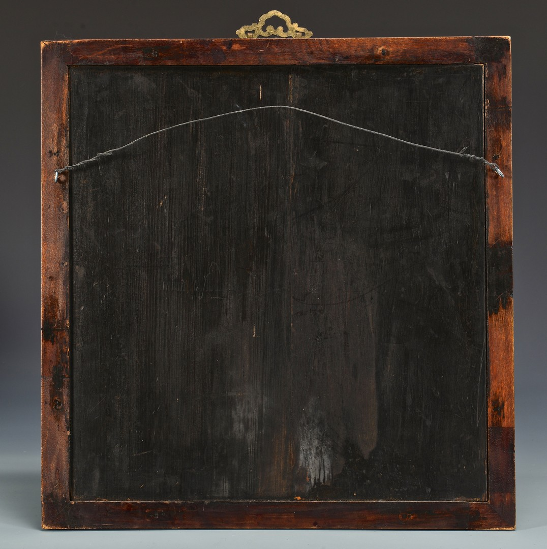 Lot 764: Chinese Gaming Box & Framed Lacquer Screen