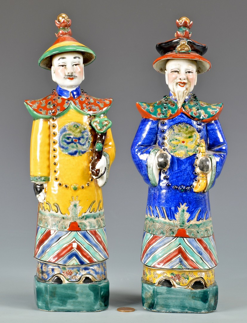 Lot 772: Three Chinese Porcelain Figures