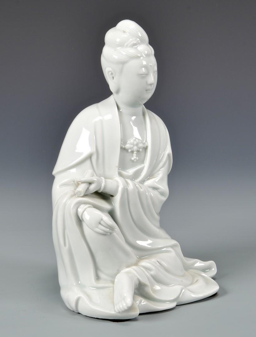 Lot 775: Chinese Blanc de Chine porcelain figure