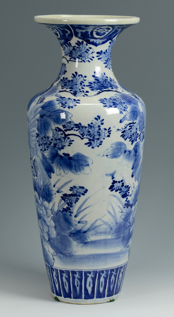 lot 776 japanese arita blue white floor vase. Black Bedroom Furniture Sets. Home Design Ideas
