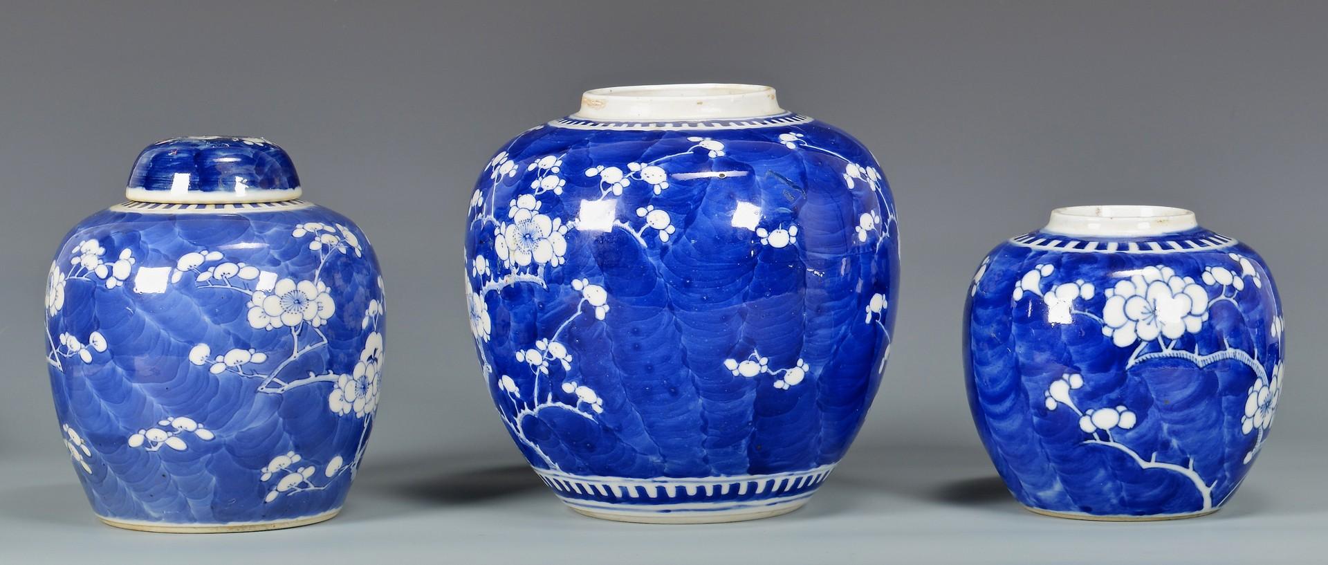 Lot 778: 6 Chinese Porcelain Hawthorne Pattern Ginger Jars