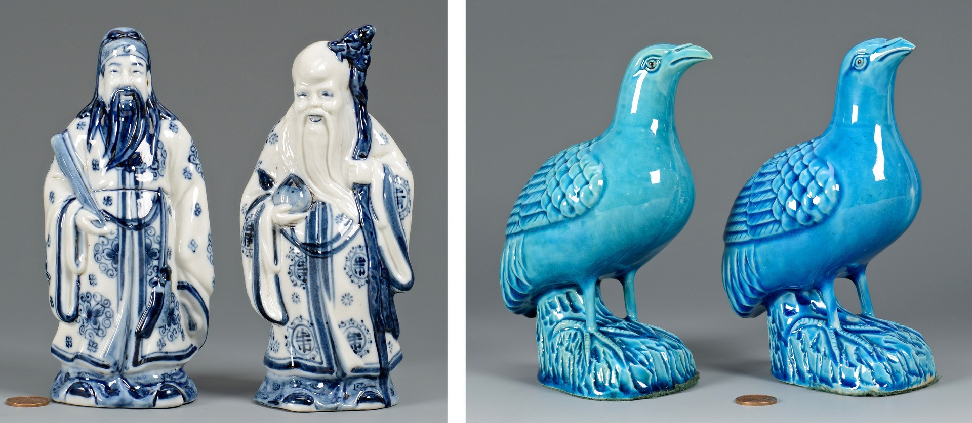 Lot 779: 6 Chinese Porcelain Items, incl. figurals