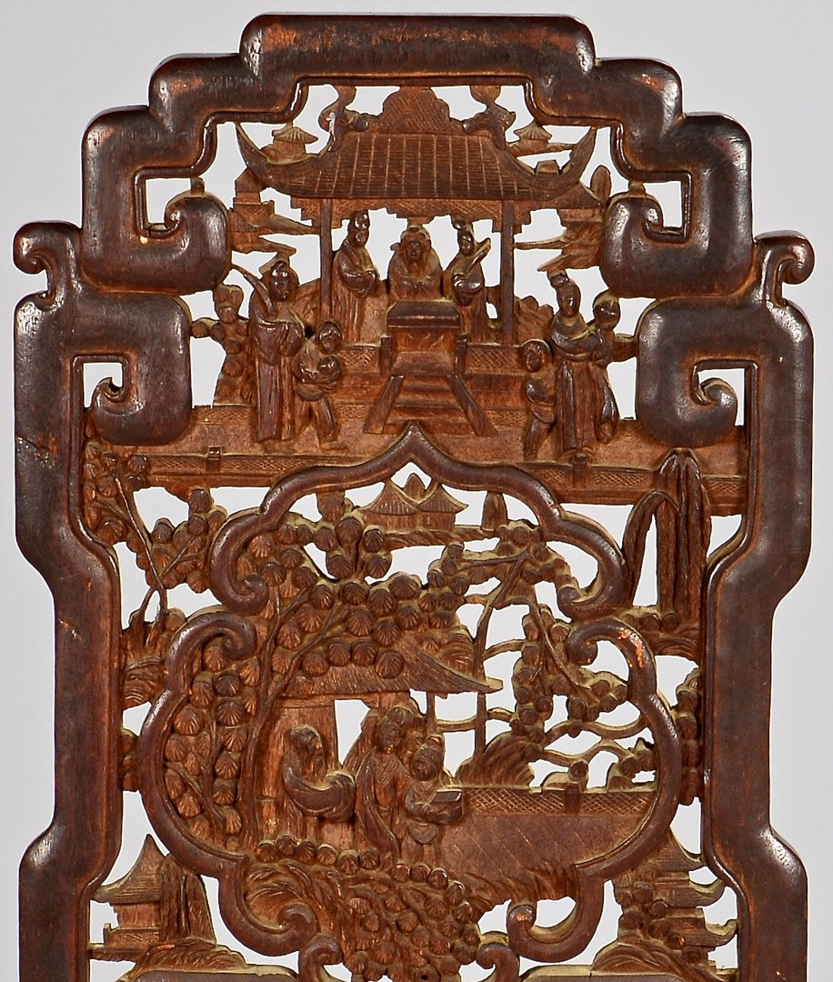 Lot 781: Chinese Carved Hardwood Side Chair