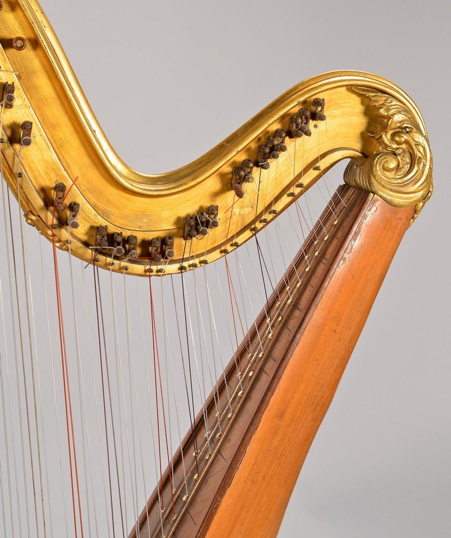 Lot 782: Pleyel, Wolff & Lyon Harp plus chair