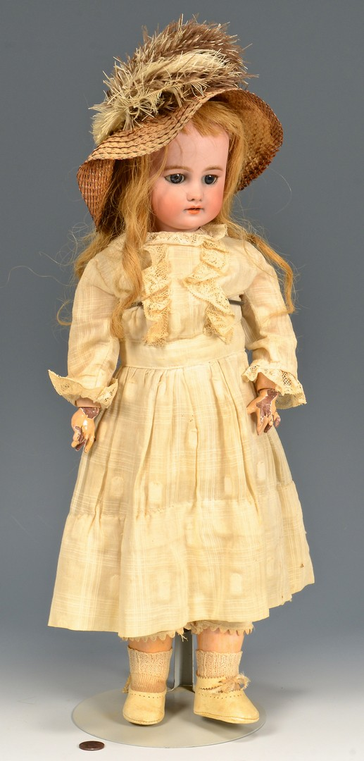 Lot 789: 3 German dolls inc. Kestner Bru type