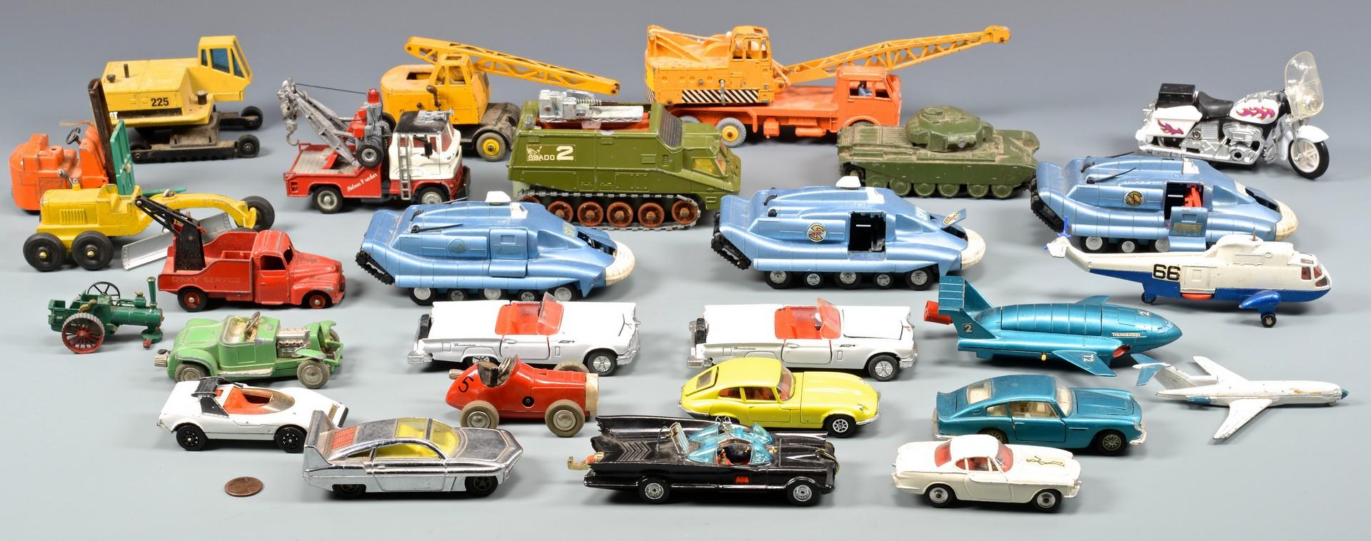 Lot 797: Collection Die-Cast Toys inc. Dinky, Corgi Batmobi