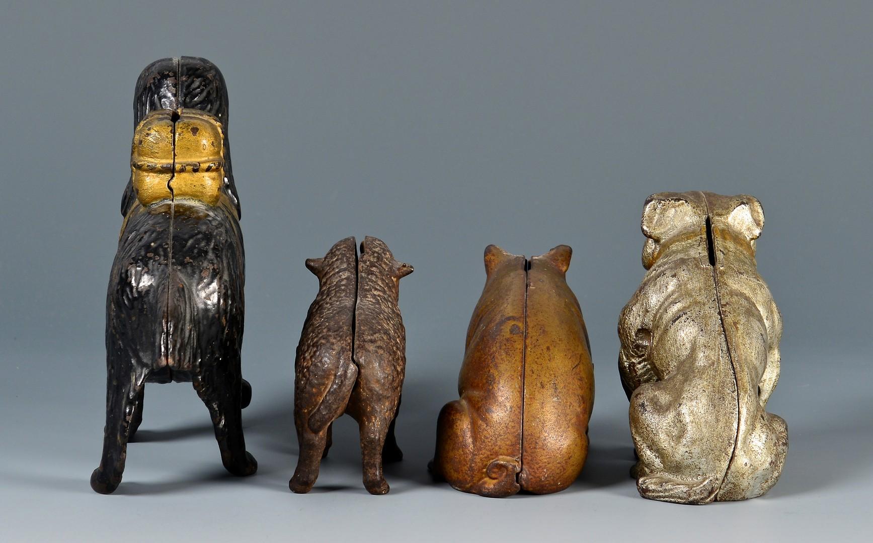 Lot 801: 4 Figural Cast Iron Banks