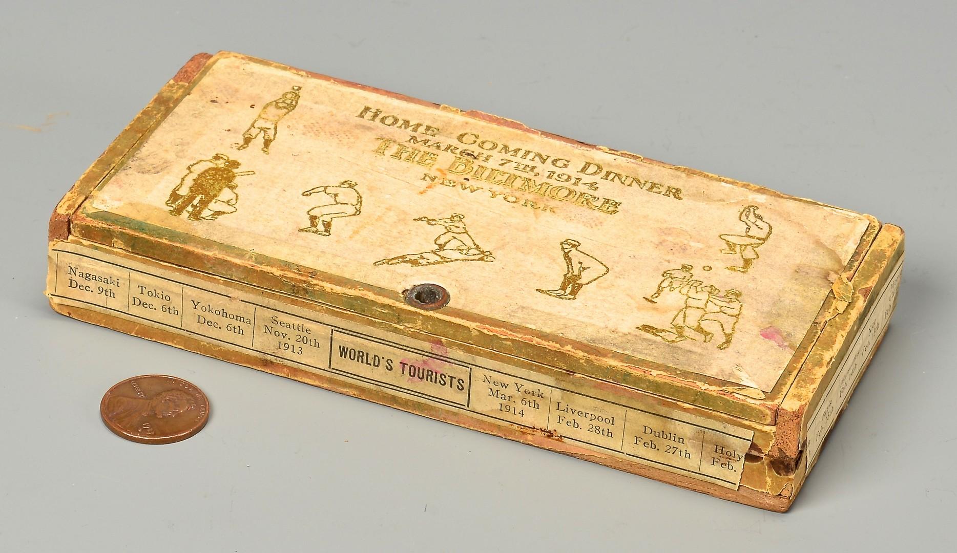 Lot 805: 1914 Baseball World Tour Cigar Box