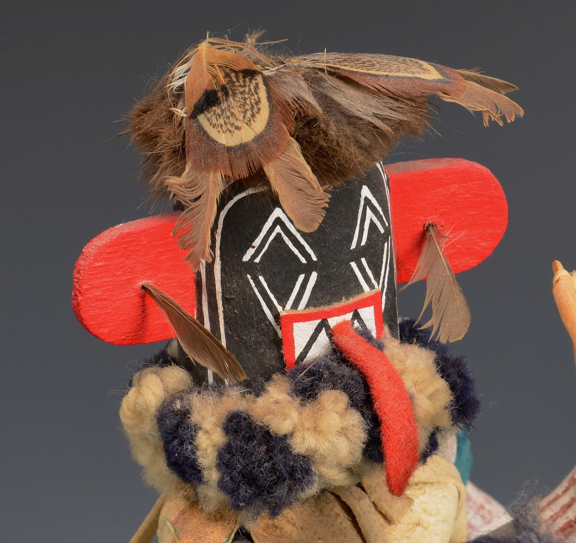 Lot 808: Hopi Left Hand Hunter Kachina Mask & Doll