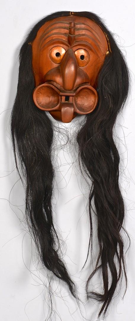 Lot 809: 2 Native American Carved False Face Masks