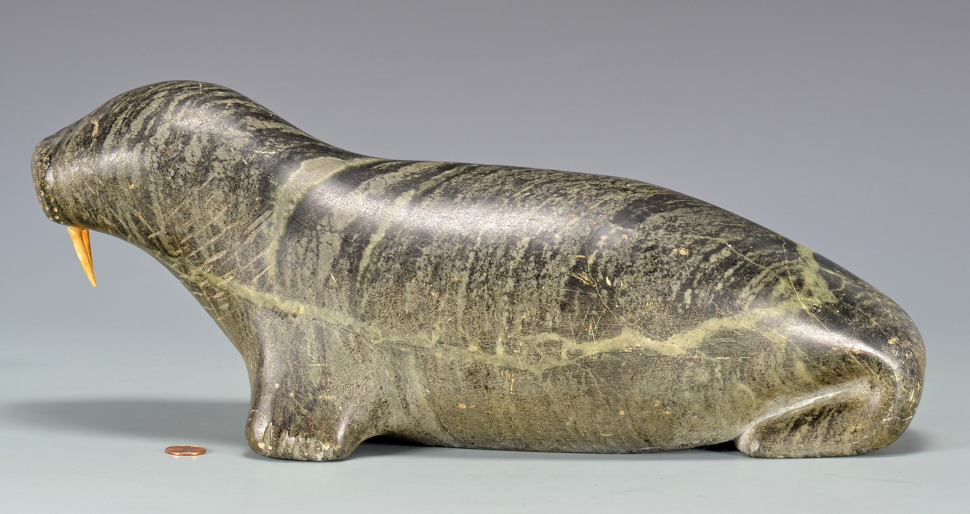 Lot 810: Large Native American Inuit Carved Walrus