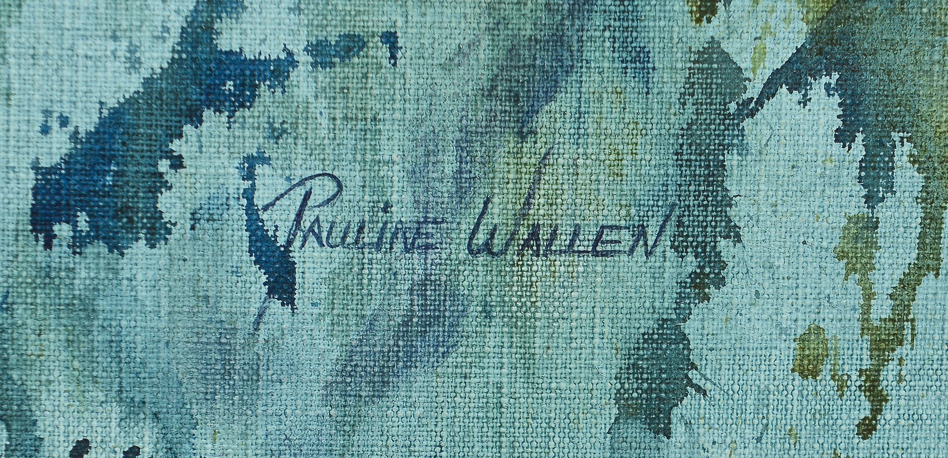 Lot 824: Pauline Wallen Oil on Canvas Abstract
