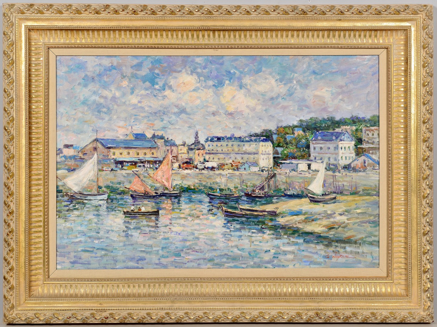 Lot 825: Impressionist Oil on Canvas, Negrete