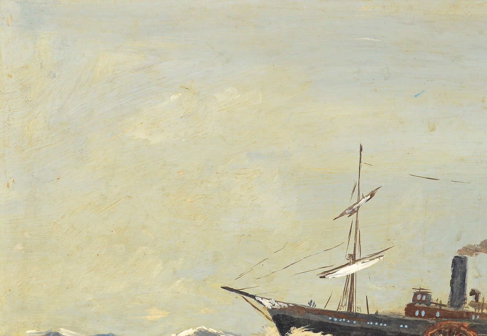 Lot 826: Maritime Oil of Steamship Lady Jean