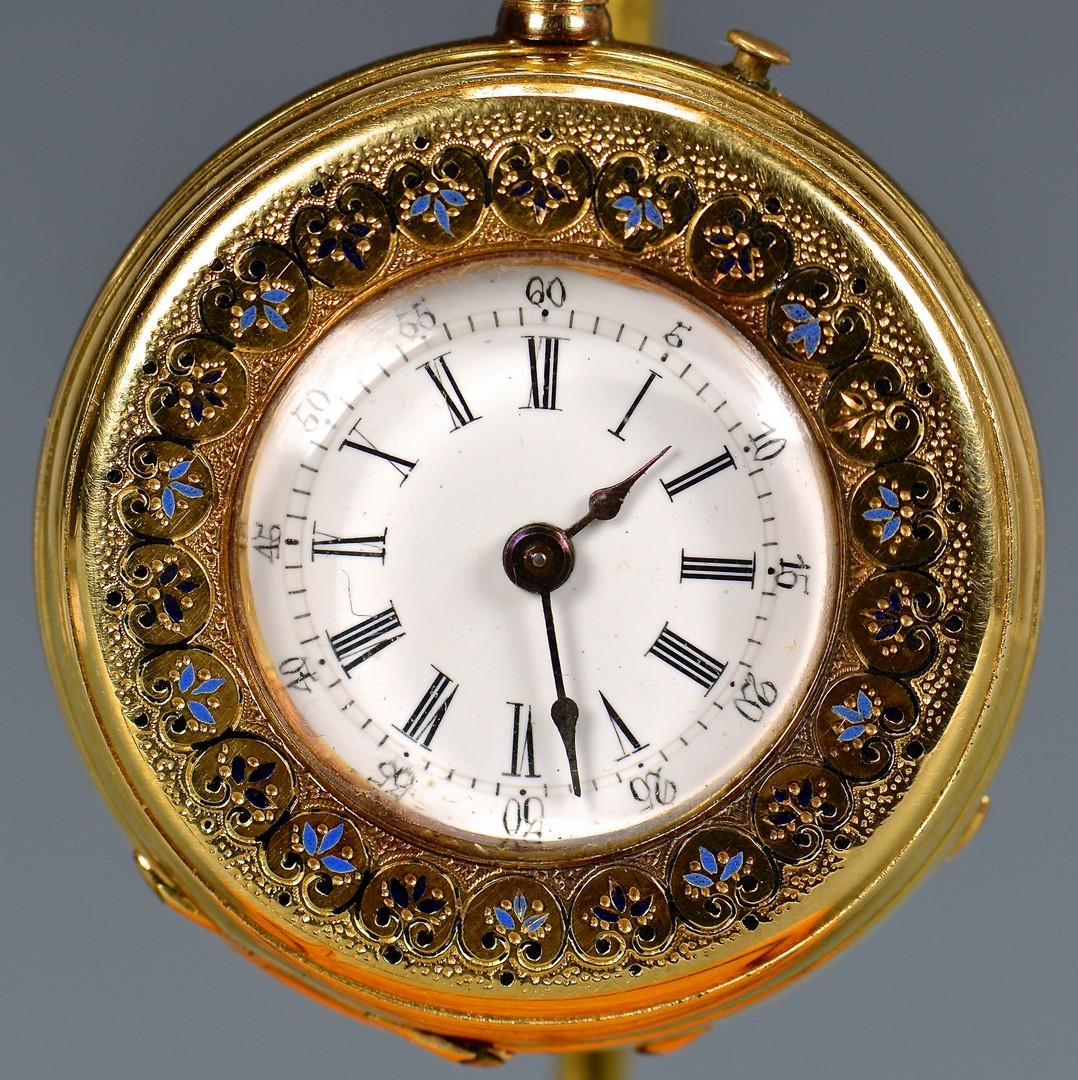 Lot 82: 18K Swiss Locle Lady's Pocket Watch