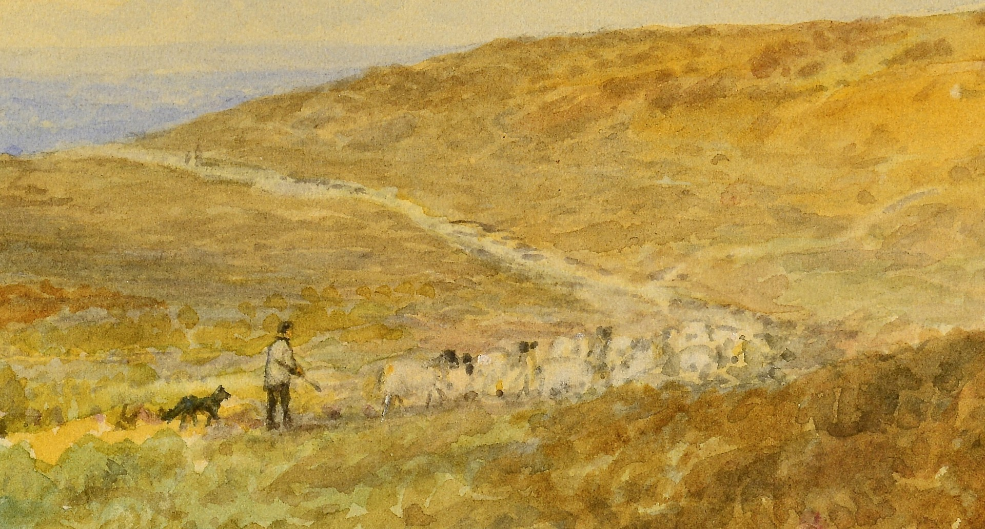 Lot 832: George Walters, W/C Highland Landscape
